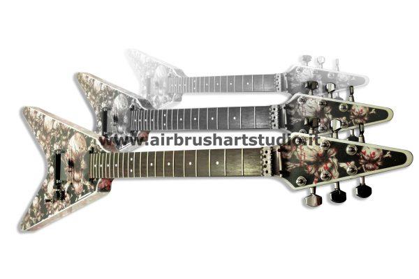 airbrushartstudio.it-aerografie-padova-italy-white-skulls-black-red-blood-electricguitar