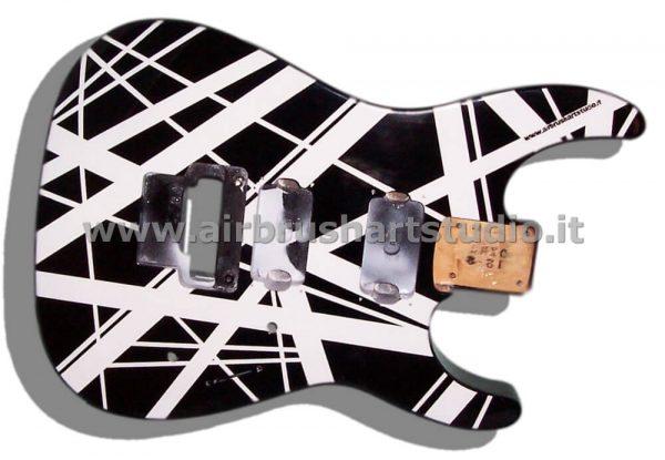 airbrushartstudio.it-aerografie-padova-italy-stripe-electricguitar-blackwhite