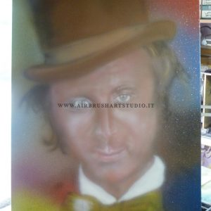 airbrushartstudio.it_aerografie_Padova_Italy_oil_quadro_willy_wonka