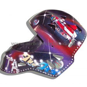 airbrushartstudio.it-aerografie-padova-italy-manga-goldrake-hokey-helmet