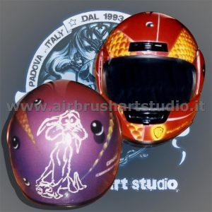 airbrushartstudio_it-aerografie-padova-italy-helmet-motorcycles-willycoyote-looneytunes