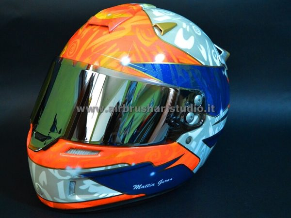 airbrushartstudio_it-aerografie-padova-italy-casco kart Mattia Geron